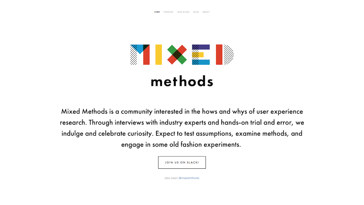 Mixed Methods podcasts