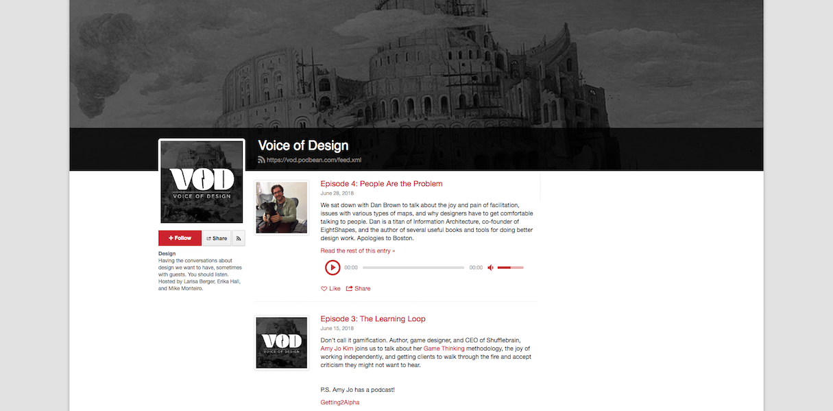 Voice of design Podcasts