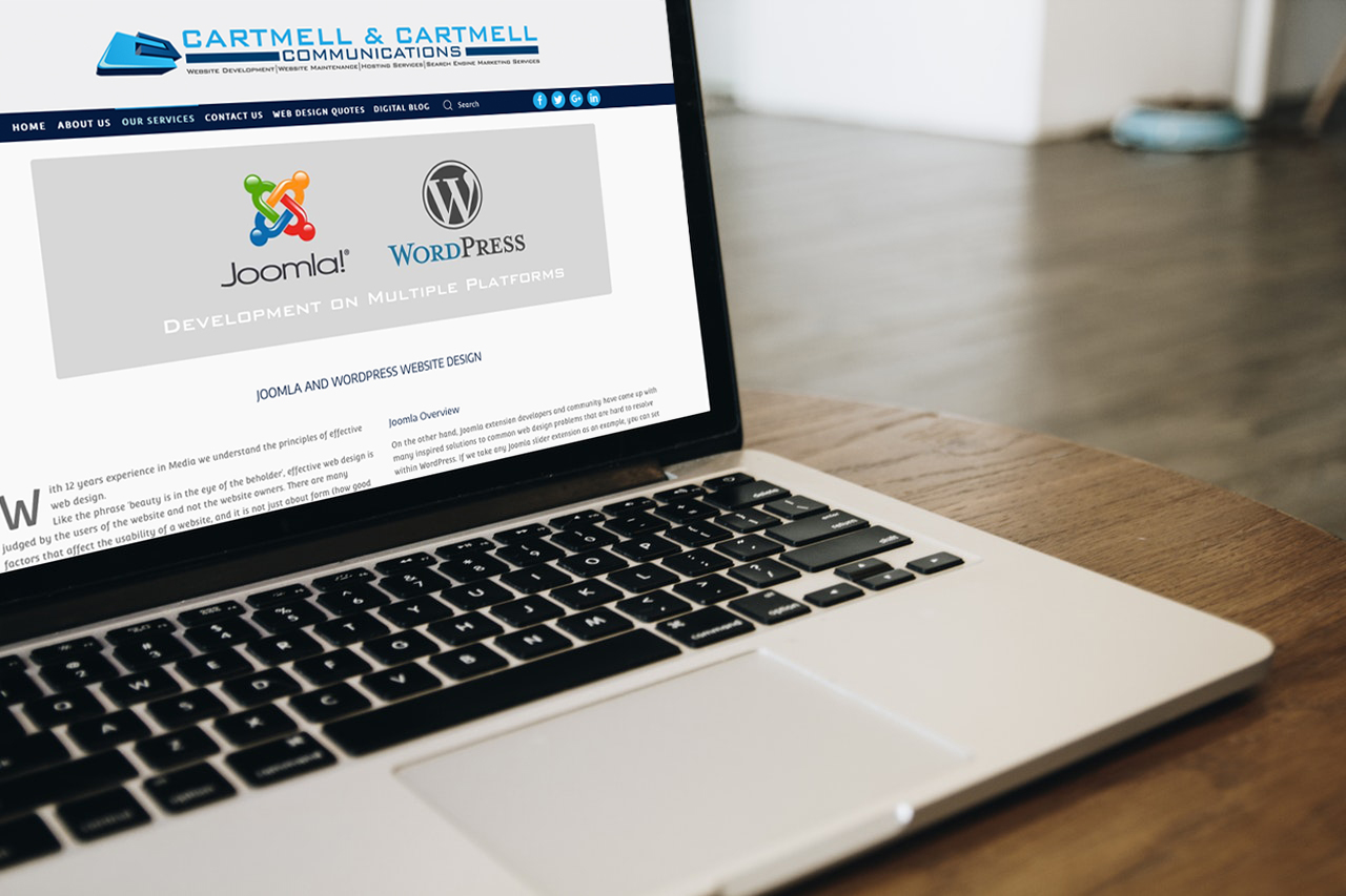 Joomla and Wordpress Website Design